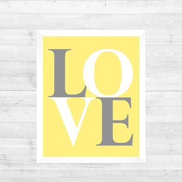 Nursery Wall Print, Baby Room Decor, LOVE, Girl Boy, Nursery Art Wall Decor CUSTOMIZE your COLORS 8x10 Prints Nursery Decor Print Art Baby