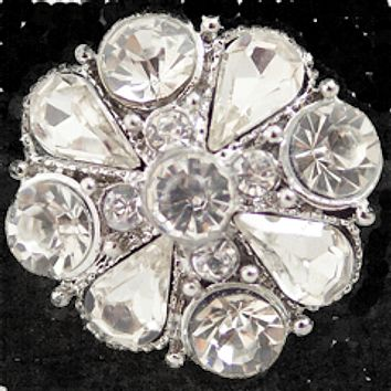 Flower Clear Crystals 22mm 3/4""