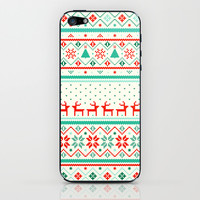 Festive Fair Isle iPhone & iPod Skin by Tracie Andrews