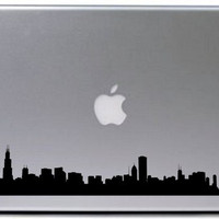 Chicago City Skyline Decal Sticker Laptop Car Window