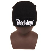 Perfect Hip Hop Letter Women Men Embroidery Beanies Winter Knit Hat Cap