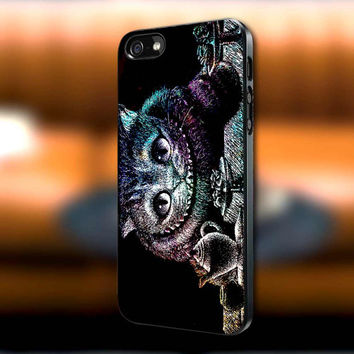 Cat Cheshire We're All Mad Here in Galaxy iPhone case, Cat Cheshire Samsung Galaxy s3/s4 case, iPhone 4/4s case, iPhone 5 case