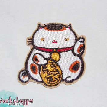 ManekiNeko [Special Lucky Toy Box] Japanese Embroidered Original Patch 3in (75.9mm)