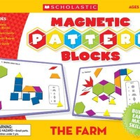 Scholastic TF7504 The Farm Magnetic Pattern Blocks