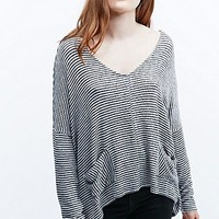 BDG Pick Me Up Slouch Top in Black and White - Urban Outfitters