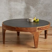Banla Wood Coffee Table by Anthropologie in Brown Size: One Size Furniture