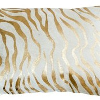 Baby Zebra Hide Pillow, Gold, Decorative Pillows