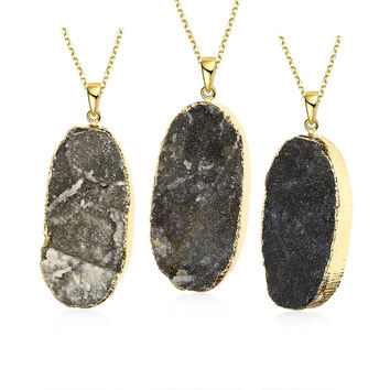 Onyx Natural Crystal Necklace