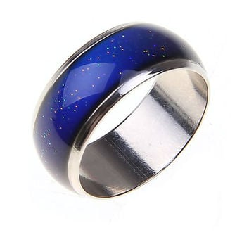 Stainless Steel Ring Changing Color Temperature Mood Ring Unisex