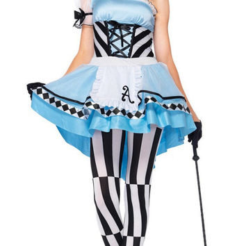 MOONIGHT Halloween costumes for women maid costumes poker europe and the stage performance maid outfit fairy tale Alice Costume