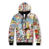 2017  Cartoon Rick and Morty Hoodies