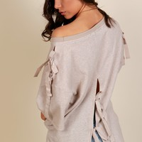 Love On The Bow Sweatshirt Beige