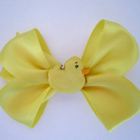 Small Hair clip with Yellow Duck