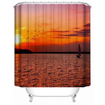 Fashion Shower Curtain Waterproof Home Decor | Soft Polyester, Decorative Bathroom Accessories | Great for Showers &