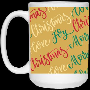 Christmas Coffee Mug 15 oz Ceramic Coffee Cup Unique Holiday Gift Office Parties