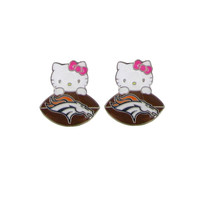 Denver Broncos Hello Kitty Earrings