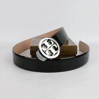 DCCK7HE Perfect Tory Burch Woman Men Fashion Smooth Buckle Belt Leather Belt