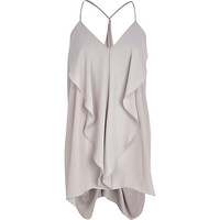 River Island Womens Light grey longline draped cami top