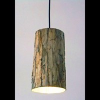 Wood Veneer Pendant Light by StudioJOTA on Etsy