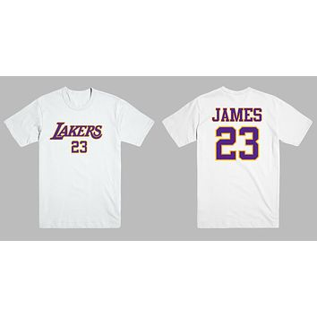 LeBron James Los Angeles LA Lakers 23 Jersey Style Men's Graphic T Shirt