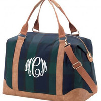 MONOGRAMMED PATTERNED WEEKENDER BAG