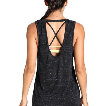 Meliwoo Women's Workout Top Sleeveless Active Cute Yoga Crop Tank Top