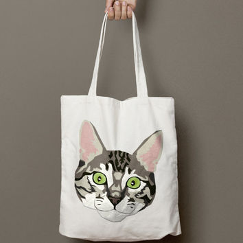 Custom Cat Tote (Submit your own photo)