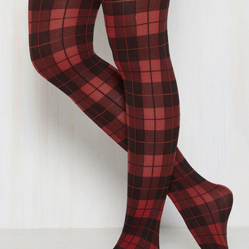 Amazing Assistant Tights in Red | Mod Retro Vintage Tights | ModCloth.com