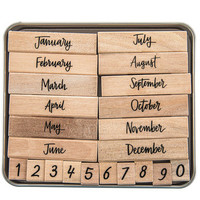 Script Months Of The Year Rubber Stamps | Hobby Lobby | 1511765