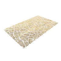 "Pom Graphic Design ""Inca Gold Trail"" Yellow Brown Woven Area Rug"