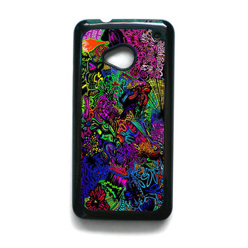 trippy alice in wonderland for HTC ONE M7/M8/M9 phonecases