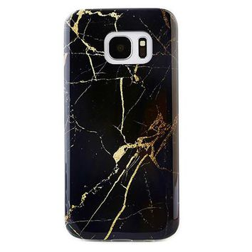Black & Gold Marble Samsung Case