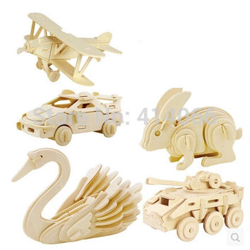 3d three-dimensional wooden animal jigsaw puzzle toys