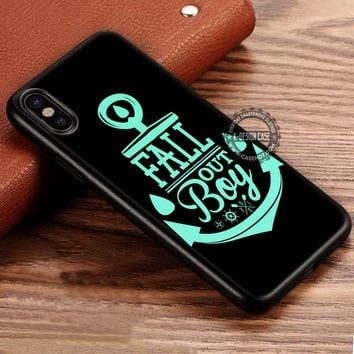 Anchor For Logo Fall Out Boy iPhone X 8 7 Plus 6s Cases Samsung Galaxy S8 Plus S7 edge NOTE 8 Covers #iphoneX #SamsungS8