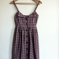 Retro Sue Wong Plaid Strap Dress