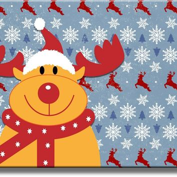 Rudolph the Red Nose Reindeer Picture on Acrylic , Wall Art Décor, Ready to Hang