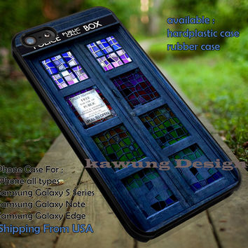 Doctor Who Tardis Box Stained Glass iPhone 6s 6 6s+ 5c 5s Cases Samsung Galaxy s5 s6 Edge+ NOTE 5 4 3 #movie #supernatural #superwholock #sherlock #doctorWho dt