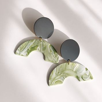 Pearl and Ivy Studio - Ray Earrings - Black / Green