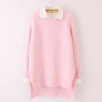 Sweet students candy color sweater pullover