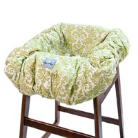 Itzy Ritzy Avocado Damask Shopping Cart & High Chair Cover