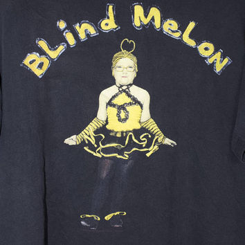 1992 BLIND MELON shirt - vintage 90s - bee  girl - no rain - crammed in a van tour