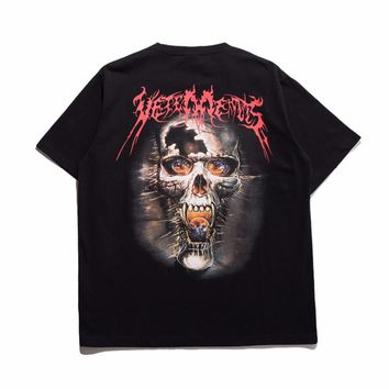 Vetements Oversized Heavy Metal Skull Tee