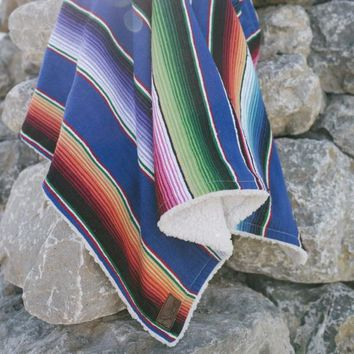 River Serape Mexican Baby Blanket