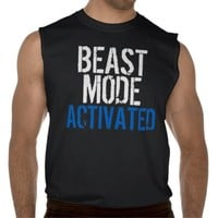 Beast Mode Activated Sleeveless Dark T-Shirt