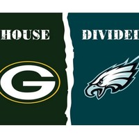 3x5 ft Green Bay Packers VS Philadelphia Eagles house divided flag