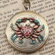 Steampunk Crab Locket Necklace Vintage Style by sallydesign