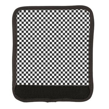 Black and White Checkerboard Pattern Handle Wrap
