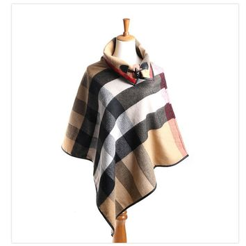 Pashmina Cashmere Shawl Ponchos and Capes Fall 2016 Scarves and Stoles Large Shawls for Woman Plaid Poncho Blanket Scarf