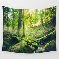 Down the dark ravine II Wall Tapestry by HappyMelvin