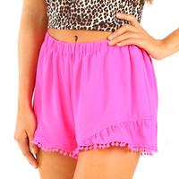 Summer Spirit Shorts: Hot Pink